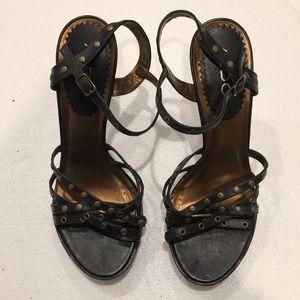 Black ALDO stud platform heels